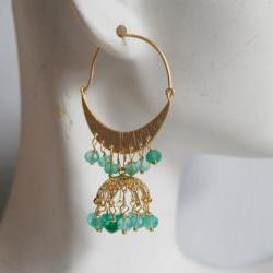 Gorgeous Green Mystic Quartz Chandelier earrings